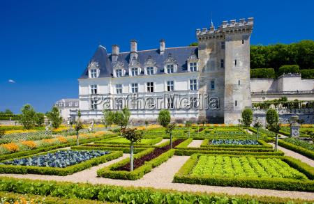 villandry castle with garden indre et