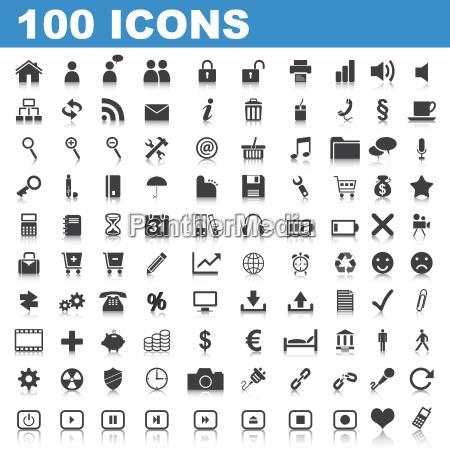 100 web buttons