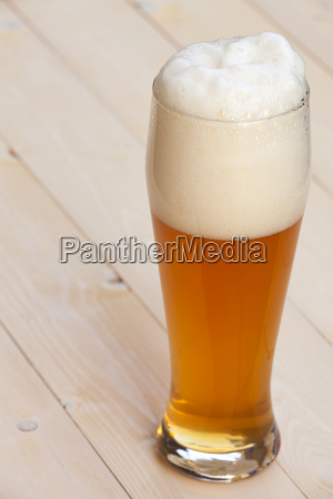 white beer in glass