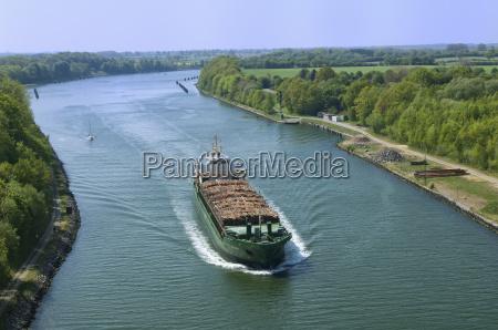 holzfrachter on the baltic sea near