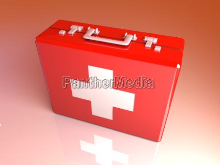 caja de los primeros auxilios
