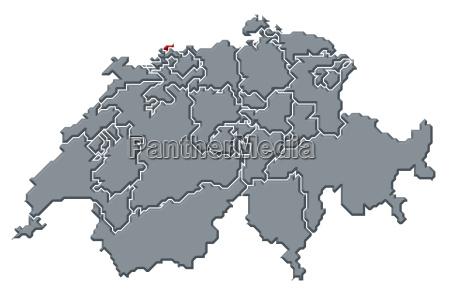 suizo mapa swizerland