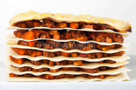 lasagneplatten mit sauce