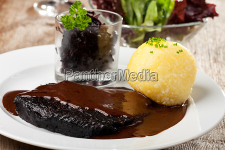 sauerbraten, with, potato, dumplings - 6326253