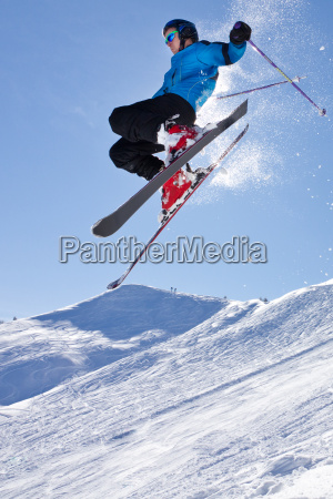 skier in a high jump