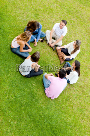 friends in a circle