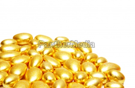 golden shapes arranged at the background