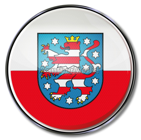 flag thuringia state button wappen bundeslaender