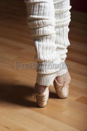 feet of a ballerina