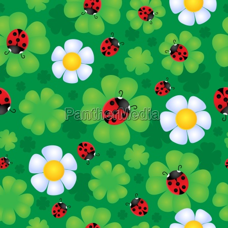seamless background flower theme 1