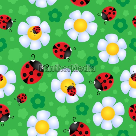 seamless background flower theme 2