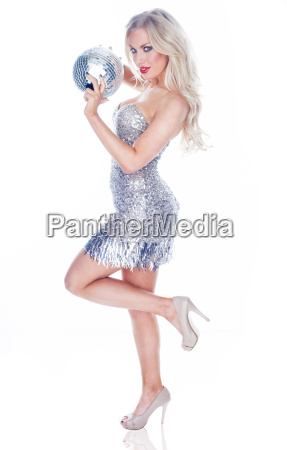 glamorous party girl