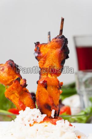indische tandoori grillspiesse