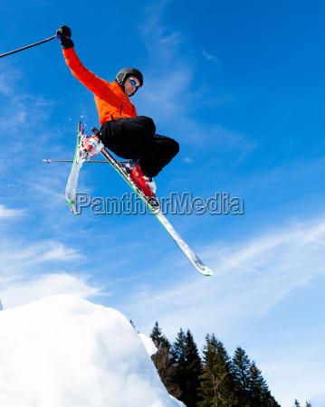 skier in jump