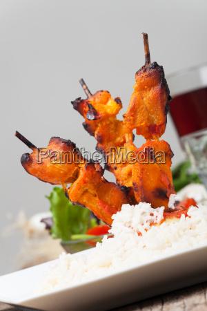 indischies tandoori grillhaehnchen