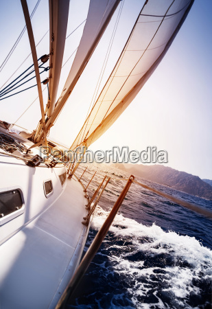 luxury yacht in action