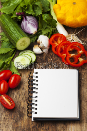 vegetal comida cuaderno einkaufsliste libro espiral