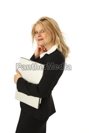 geschaeftsfrau mit notebook