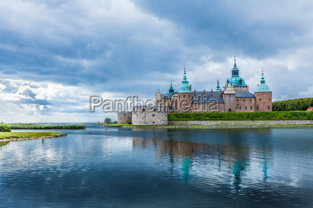 historical kalmar castle in sweden scandinavia