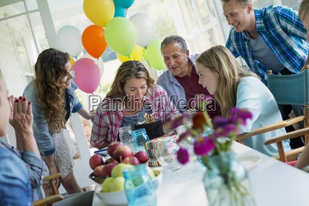 a birthday party in a farmhouse