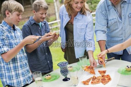 organic farm an outdoor family party