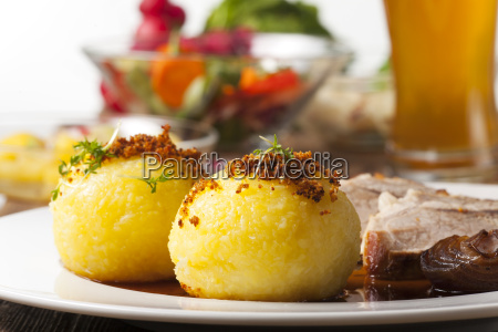 potato, dumplings, and, bavarian, roast, pork - 10720849