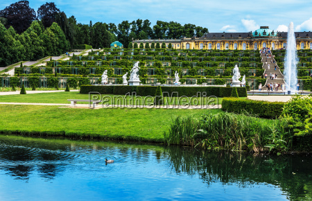 sanssouci palace in potsdamgermany