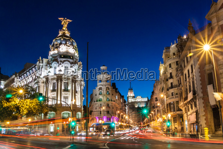 gran via in madrid spain europe