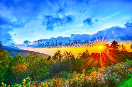 blue ridge parkway late summer appalachian