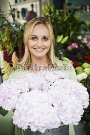 woman job inside flower flowers plant