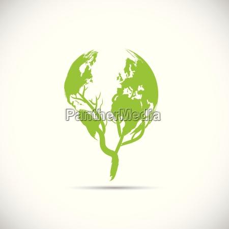 disenyo verde del planeta