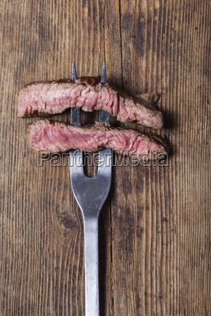scheiben ein steak auf eine fleisch