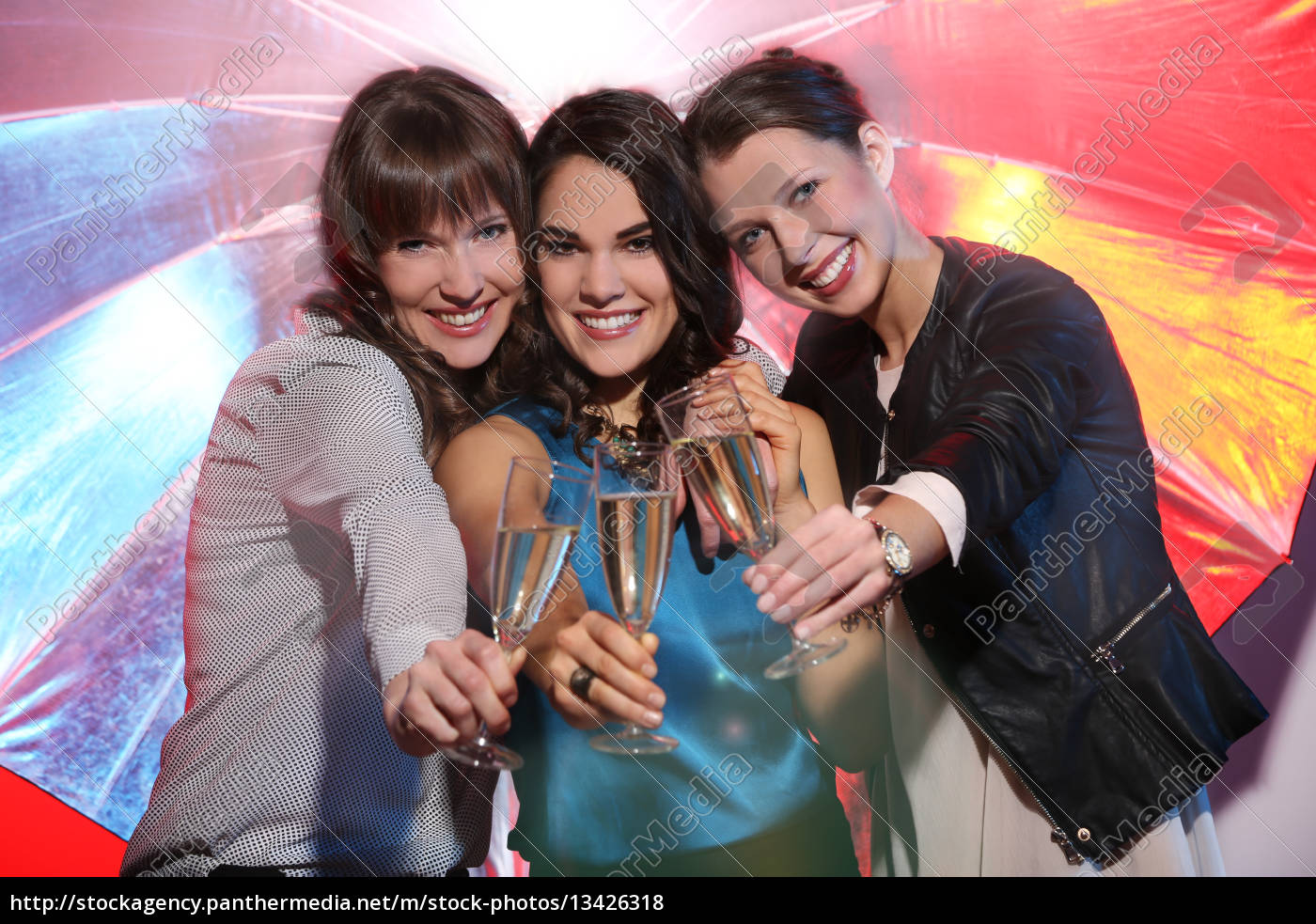 Girlfriends Celebrate Together Stock Image 13426318