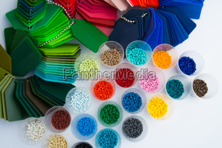 colour plastic synthetic material tinted pellets