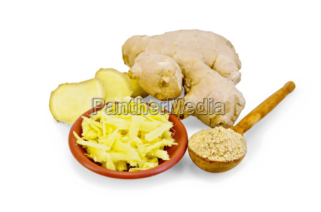 ginger grated in a bowl with