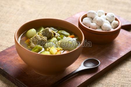 bolivian soup called chairo de tunta