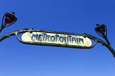 pariser metro schild