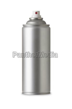 blank aluminum spray paint can aerosol