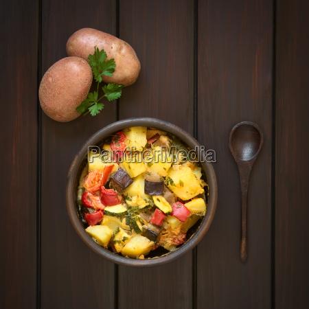 potato eggplant zucchini tomato casserole