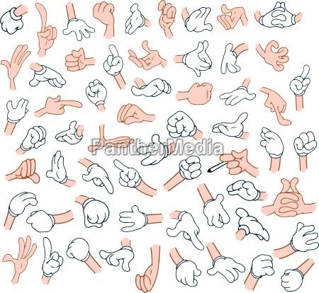cartoon hands pack 1