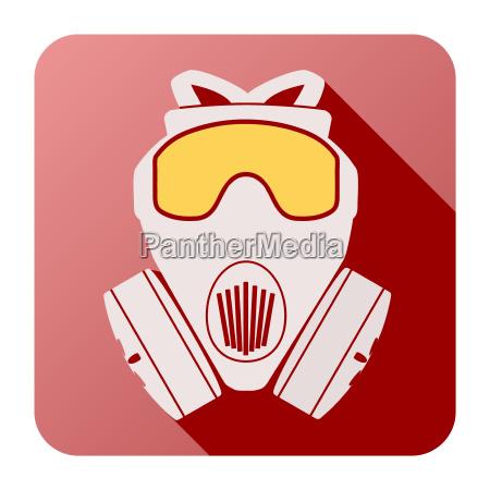 flat icon of gas mask respirator