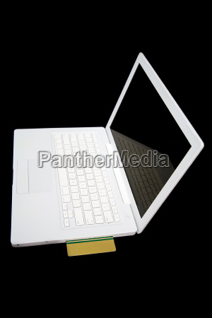 credit, card, in, white, laptop - 14713571