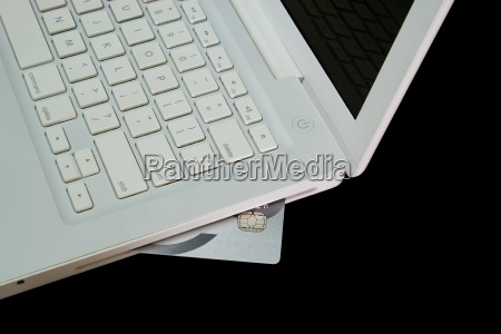 credit, card, in, white, laptop - 14713591