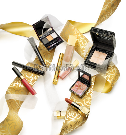 cosmetics and makeups in a still