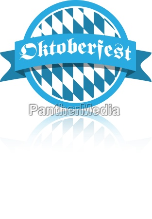 oktoberfest vector illustration button