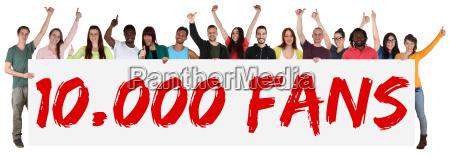 los fans partidario 10000 likes soziales
