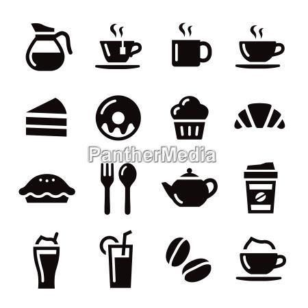 cafe te taza de cafe pastel