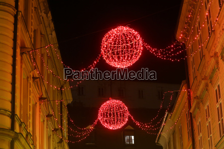 advent decoration in city