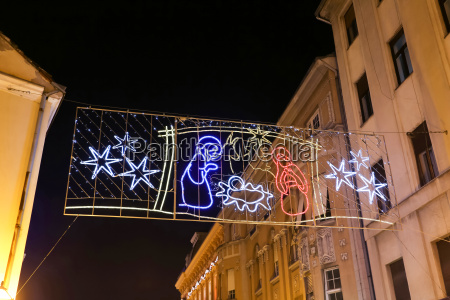 christmas decoration in zagreb city