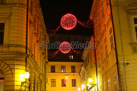 christmas decoration in zagreb